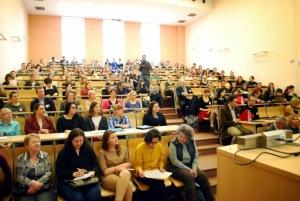 Sala w czasie otwarcia konferencji. Jak się przyjrzycie, znajdziecie i naszą główną bohaterkę (fot. Piotr Przytuła).