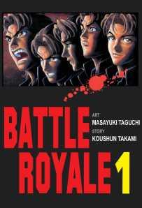 Okładka mangowej adaptacji Battle Royale. Wydane przez Waneko