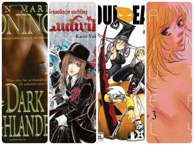 "10. ""The Dark Highlander"" K.M. Moning 11. ""Rewolucja według Ludwika. Tom 2"" K. Yuki 12. ""Soul Eater. Tom 1"" A. Ohkubo 13. ""Walkin' Butterfly. Tom 3"" C. Tamaki"
