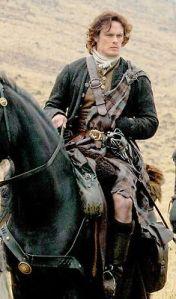 Jamie Fraser w swej szkockiej okazałości.