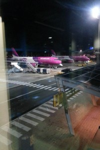 5:30 rano, widok na samolot.