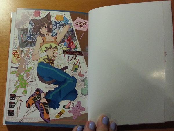 Kolorowa strona pierwszego tomu przedstawia Ritsukę.