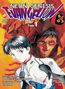Polska okładka pierwszego tomu Neon Genesis Evangelion Yoshiyukiego Sadamoto, stworzonej na podstawie anime Hideakiego Anno.