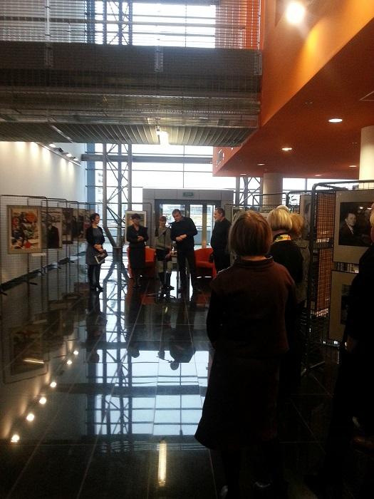 """2014.03.12 - """"Spotkanie z HRABALEM"""", wernisaż wystawy w Bibliotece Uniwersytetu Gdańskiego"""